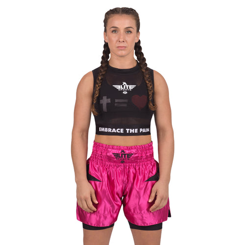 Elite Sports Visibility Black Women Training Crop Top