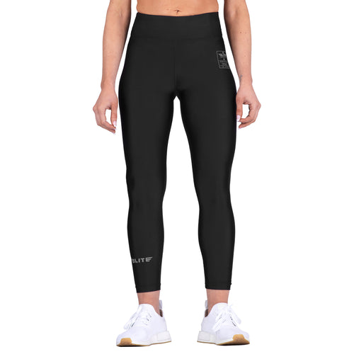 Elite Sports Black Women Compression Boxing Spat Pants
