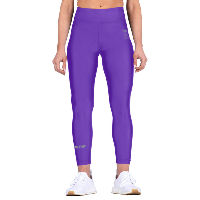 Elite Sports Purple Women Compression Boxing Spat Pants