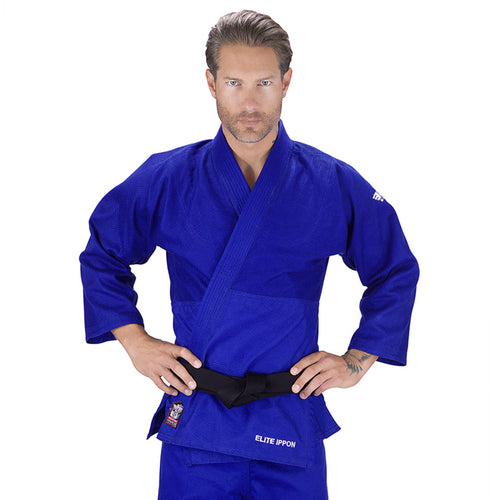 Elite Sports Ultra Light Preshrunk Blue Adult Judo Gi