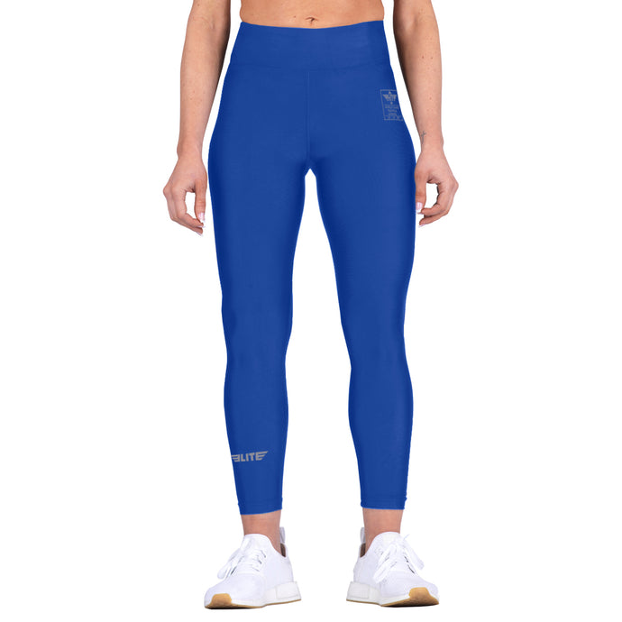 Elite Sports Blue Women Compression Bjj Spat Pants