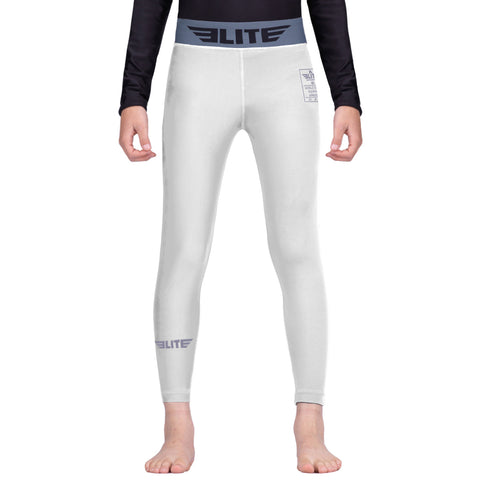 Elite Sports White Kids Compression Judo Spat Pants