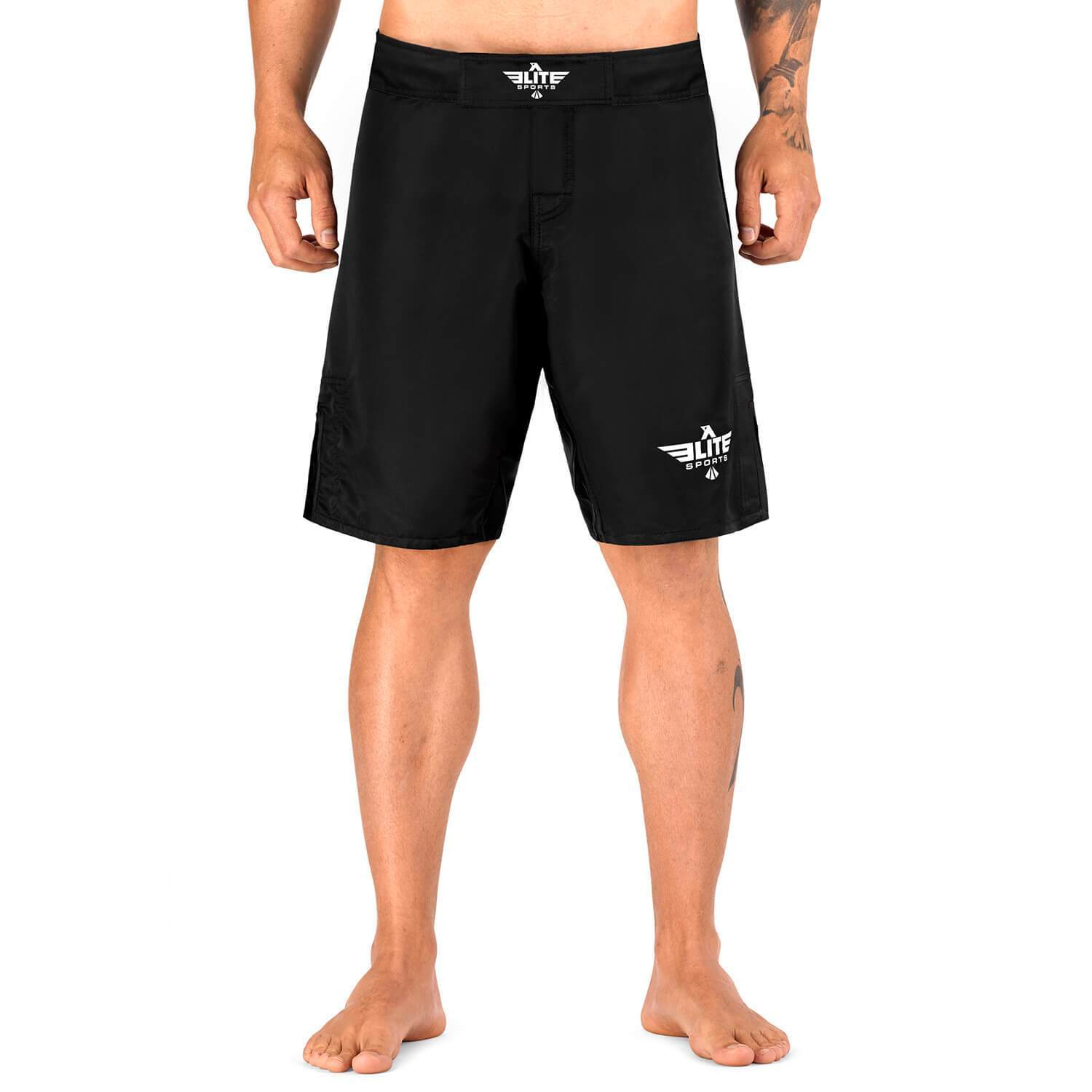 Load image into Gallery viewer, Elite Sports Black Jack Series Black/Black MMA Shorts