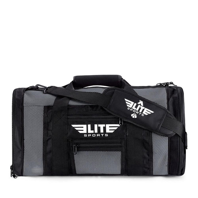 Elite Sports Mesh Gray Medium Boxing Gear Gym Bag