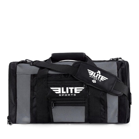 Elite Sports Mesh Gray Medium Training Gear Gym Bag