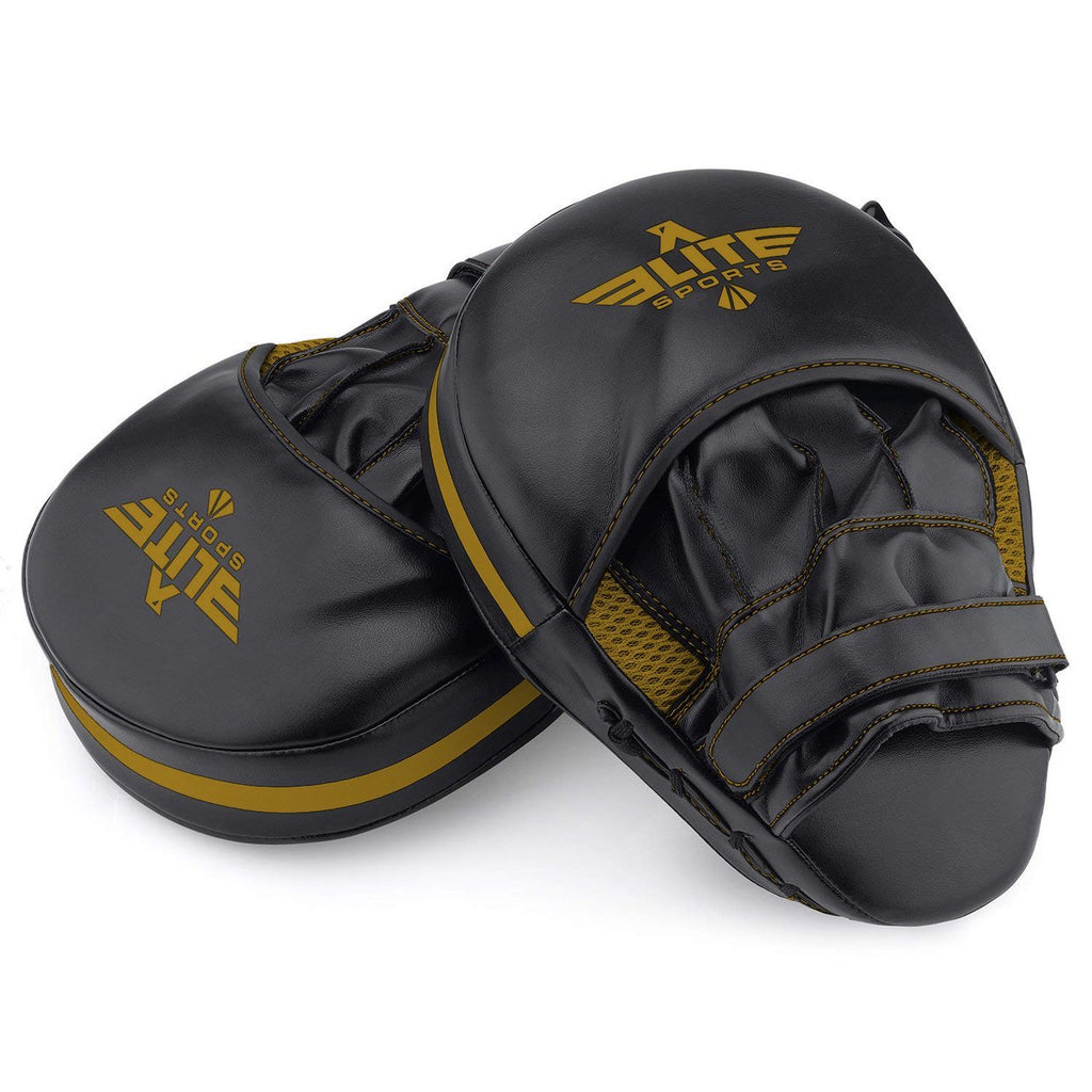 Elite Sports Essential Curved Black/Gold Training Punching Mitts