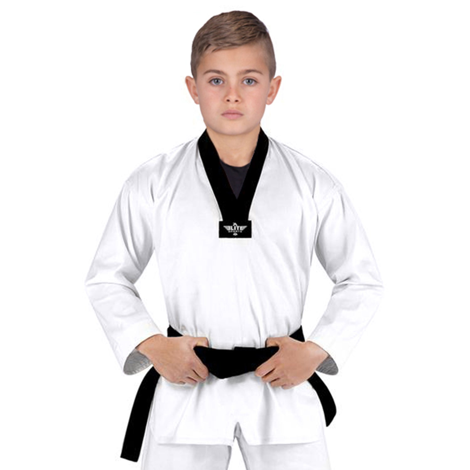Elite Sports Ultra Light Preshrunk White Kids Taekwondo - TKD Gi