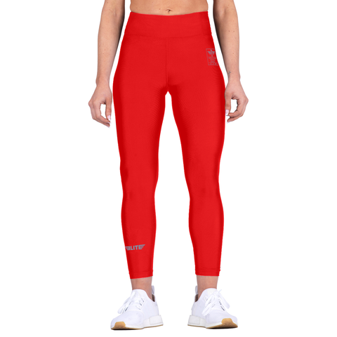 Elite Sports Red Women Compression Muay Thai Spat Pants