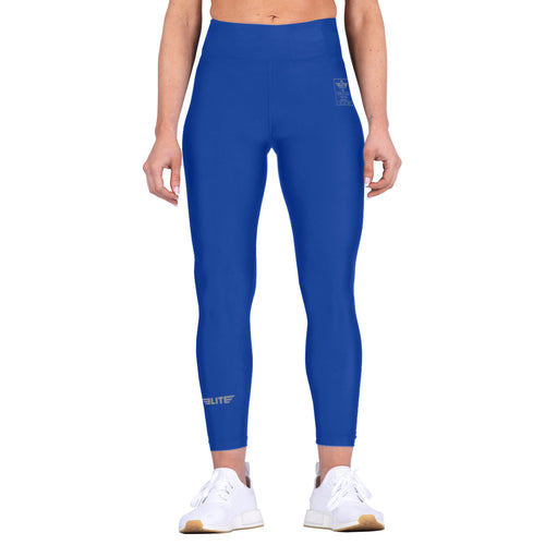 Elite Sports Blue Women Compression Boxing Spat Pants