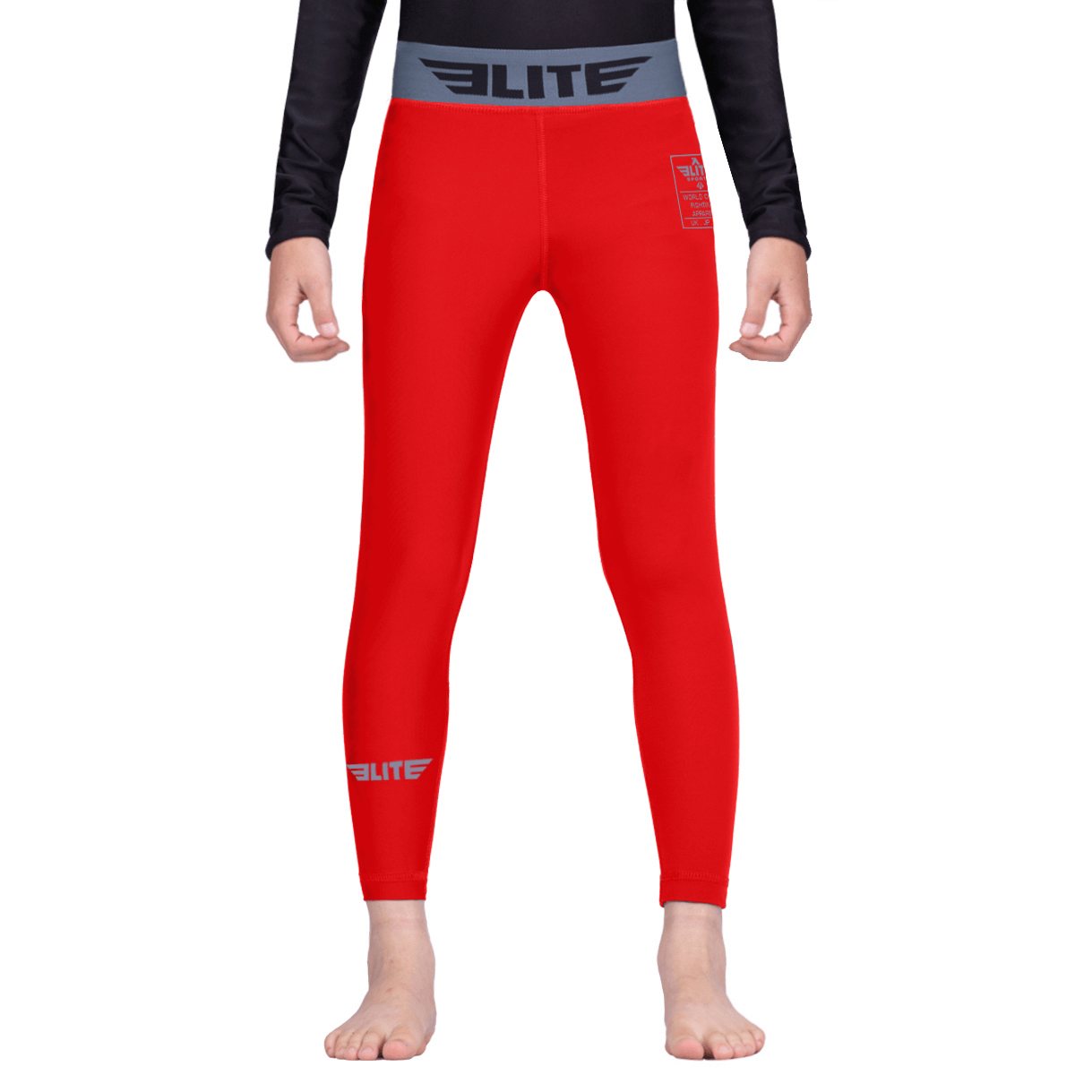 Elite Sports Red Kids Compression Muay Thai Spat Pants