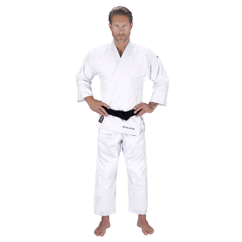 Elite Sports Ultra Light Preshrunk White Adult Judo Gi