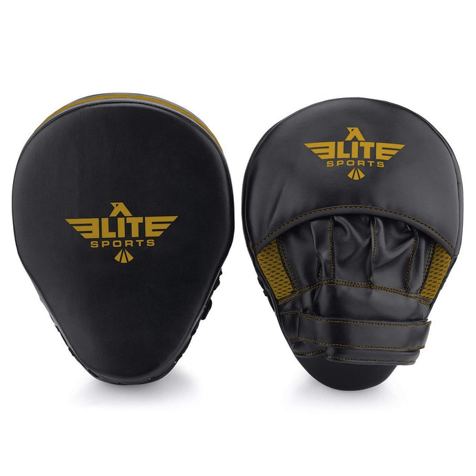 Elite Sports Essential Curved Black/Gold MMA Punching Mitts