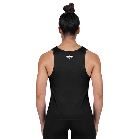 Elite Sports Black Karate Women Tank Top