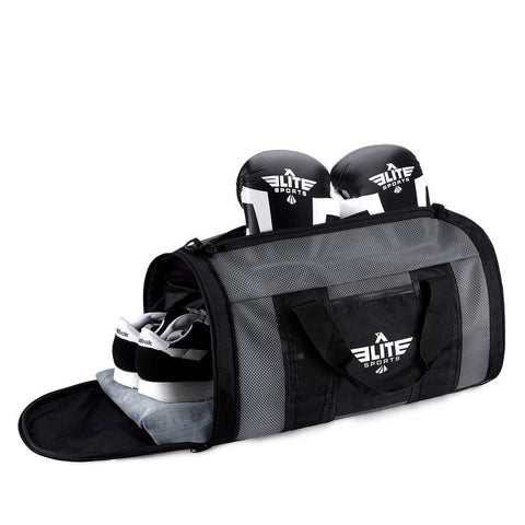Elite Sports Mesh Gray Medium Wrestling Gear Gym Bag