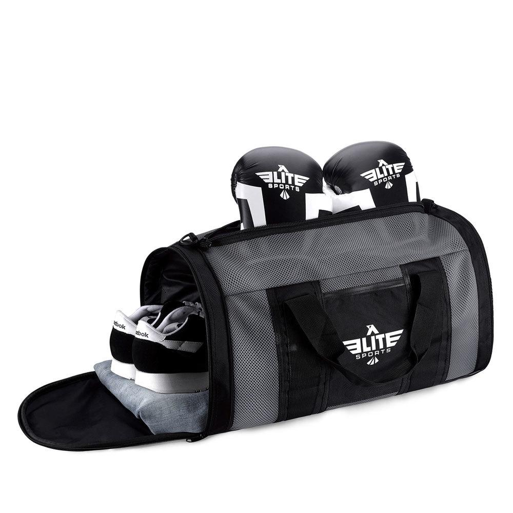 Load image into Gallery viewer, Elite Sports Mesh Gray Medium Muay Thai Gear Gym Bag