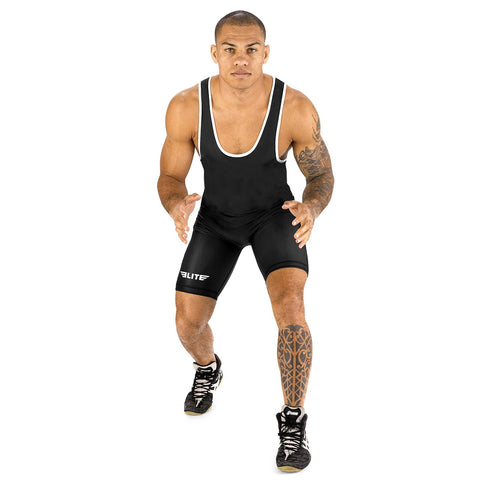 Elite Sports Standard Series Black Wrestling Singlets
