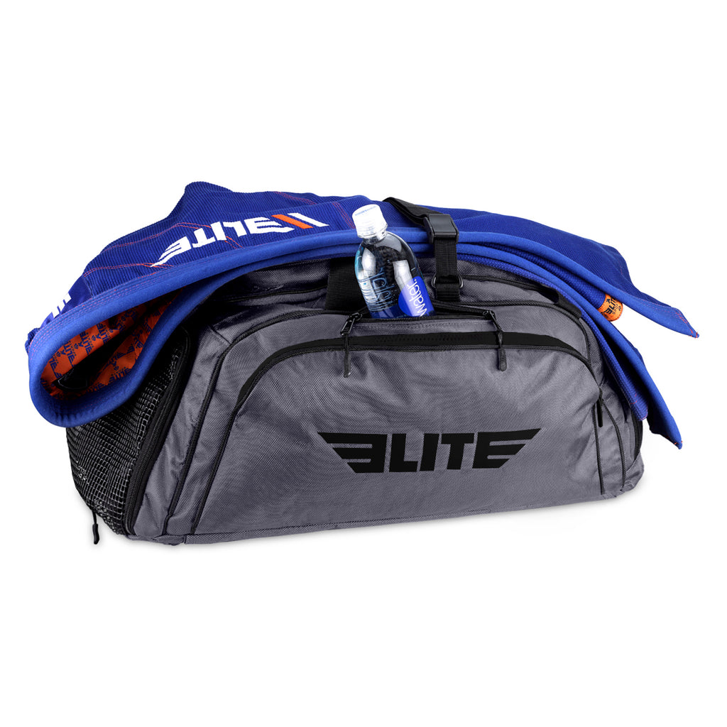 Elite Sports Warrior Series Gray Large Duffel Karate Gear Gym Bag & Backpack