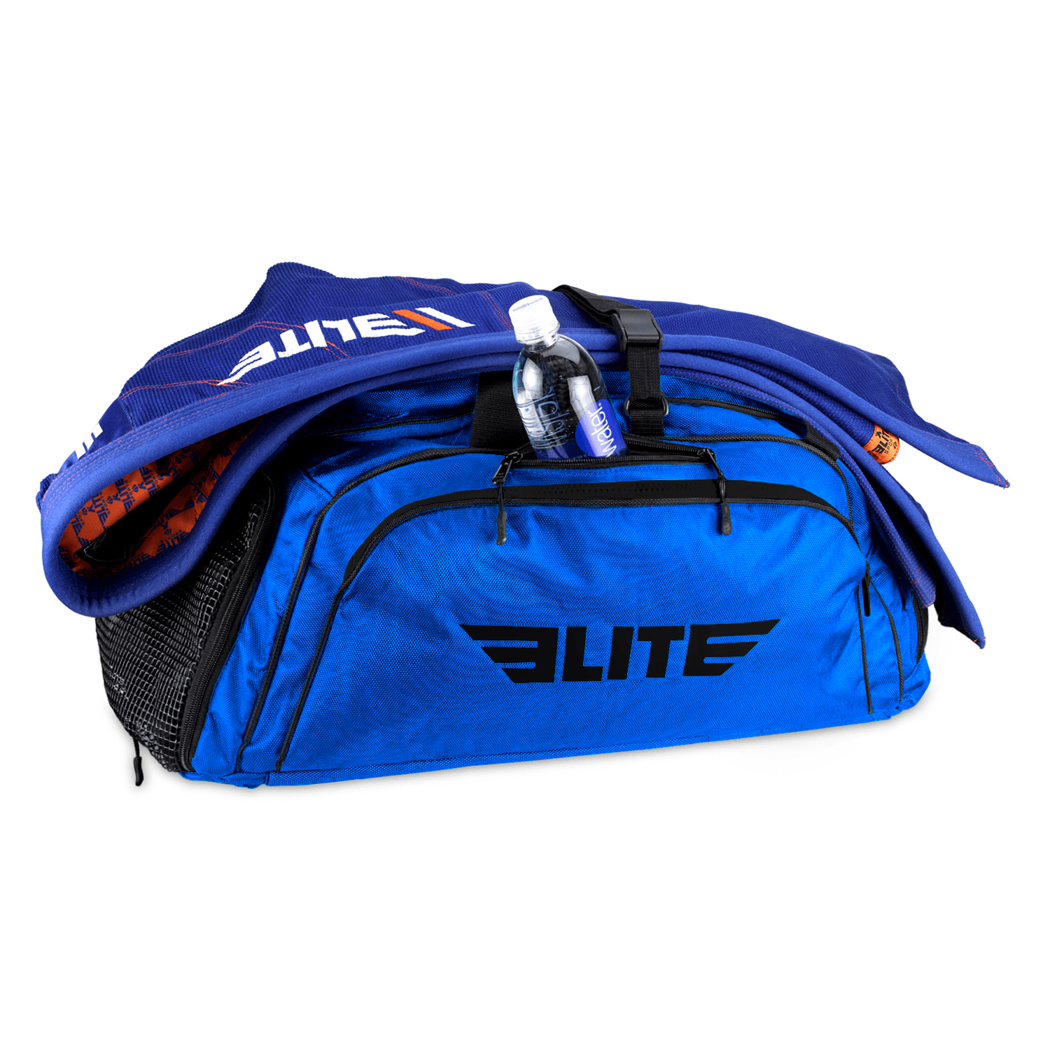 Load image into Gallery viewer, Elite Sports Warrior Series Large Blue Boxing MMA BJJ Gear Gym Duffel Bag & Backpack