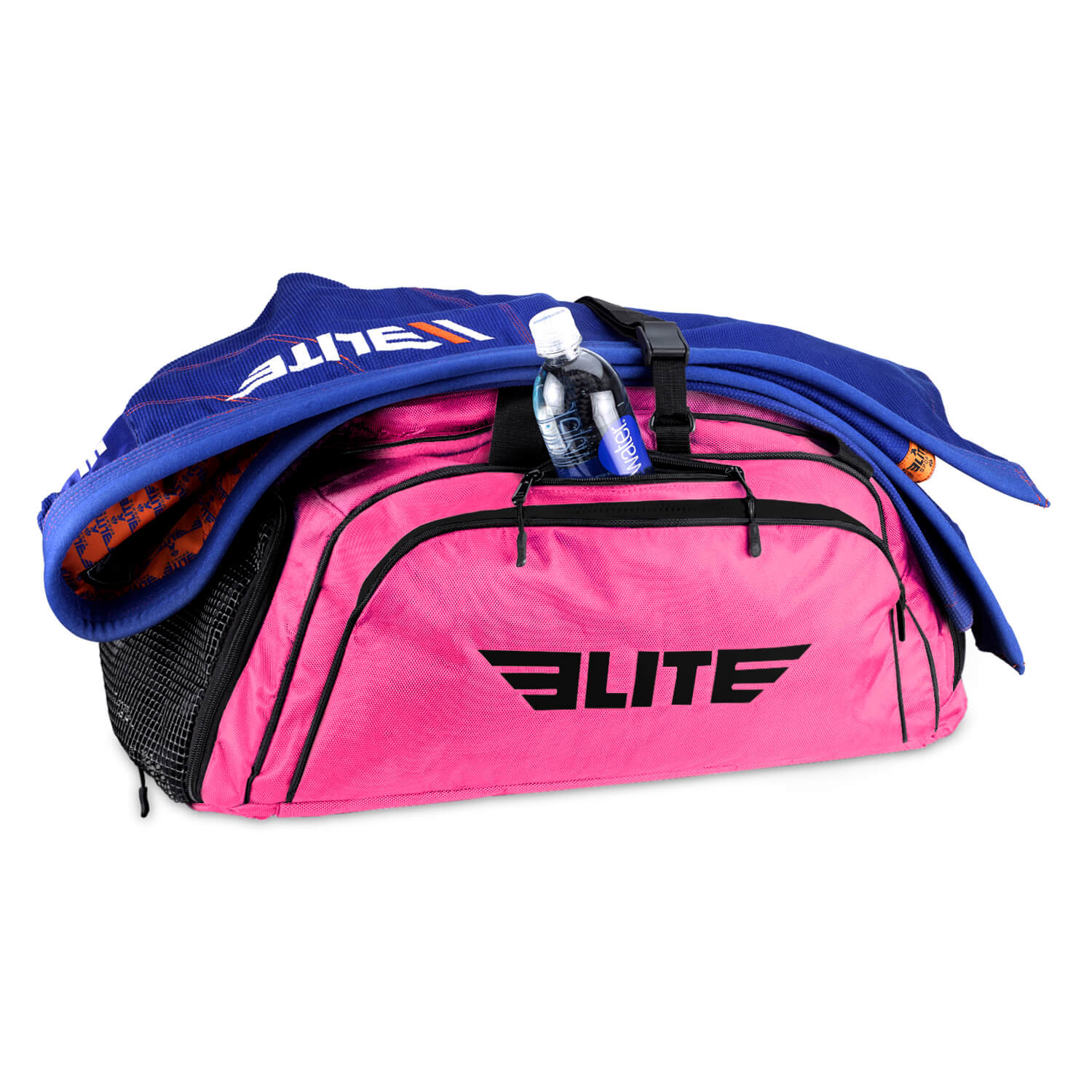 Load image into Gallery viewer, Elite Sports Warrior Series Pink Large Duffel Training Gear Gym Bag & Backpack