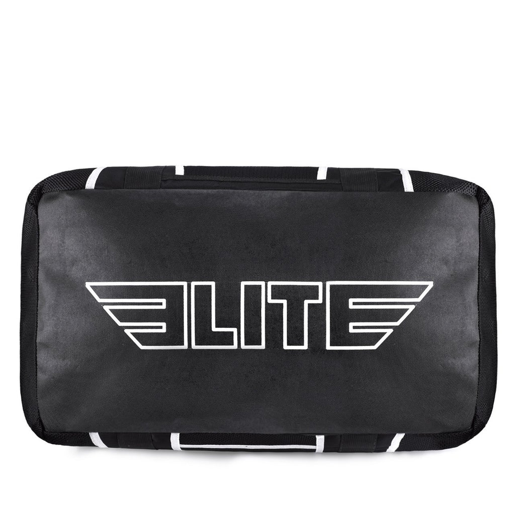 Elite Sports Warrior Series Black/White Strip Large Duffel Karate Gear Gym Bag