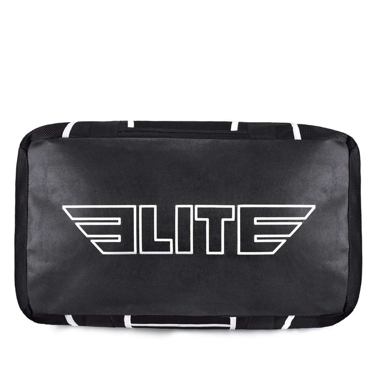 Load image into Gallery viewer, Elite Sports Warrior Series Black/White Strip Large Duffel Karate Gear Gym Bag