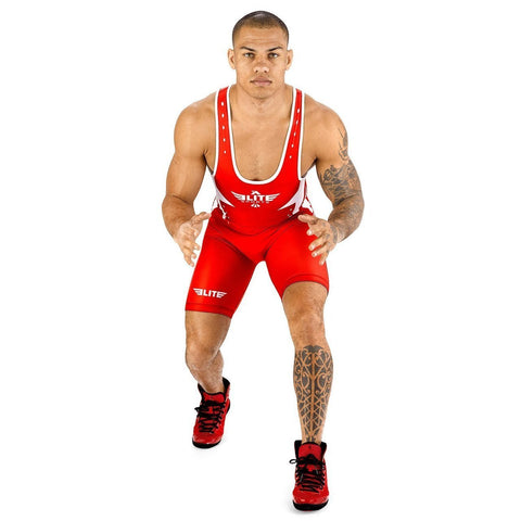 Elite Sports Star Series Red Wrestling Singlets