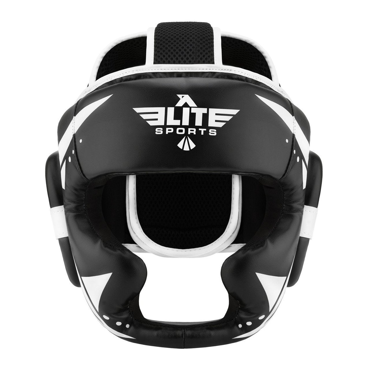Elite Sports Star Series Sparring Black/White Karate Headgear