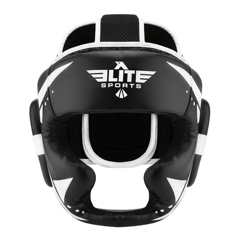 Elite Sports Star Series Sparring Black/White BJJ Headgear