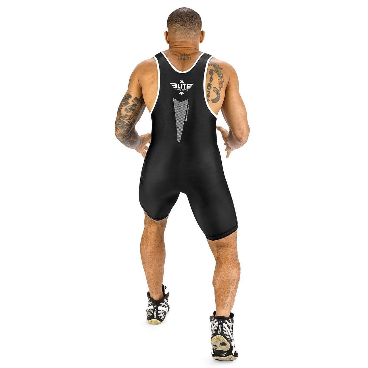 Load image into Gallery viewer, Elite Sports Star Series Black Wrestling Singlets
