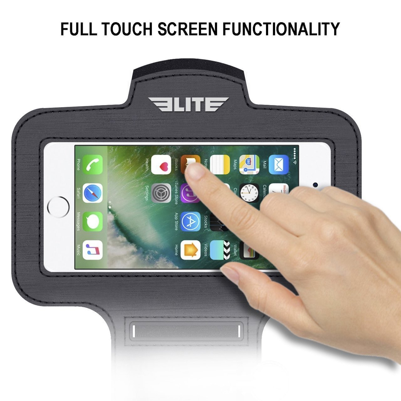 Load image into Gallery viewer, Elite Sports Water Resistant Black Armband