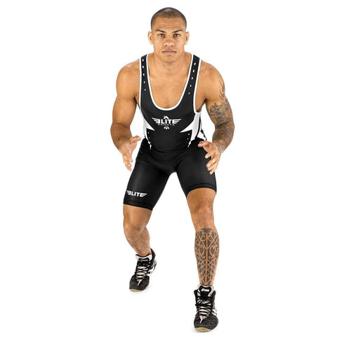 Elite Sports Star Series Black Wrestling Singlets