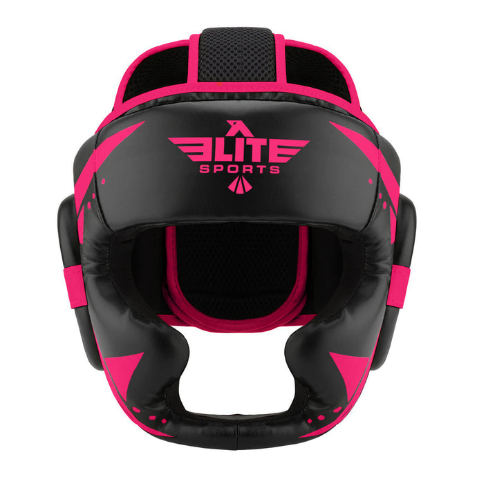 Elite Sports Star Series Sparring Black/Pink Muay Thai Headgear
