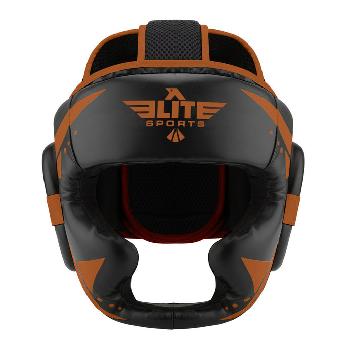 Elite Sports Star Series Sparring Black/Cooper MMA Headgear
