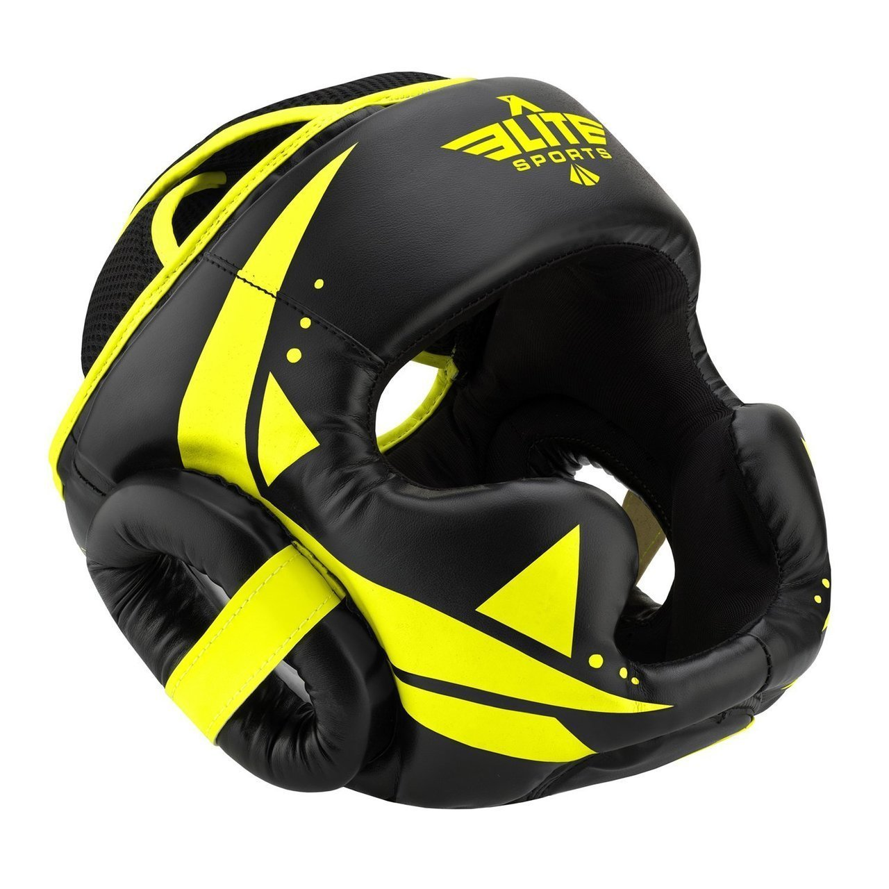 Load image into Gallery viewer, Elite Sports Star Series Sparring Black/Hi Viz Boxing Headgear