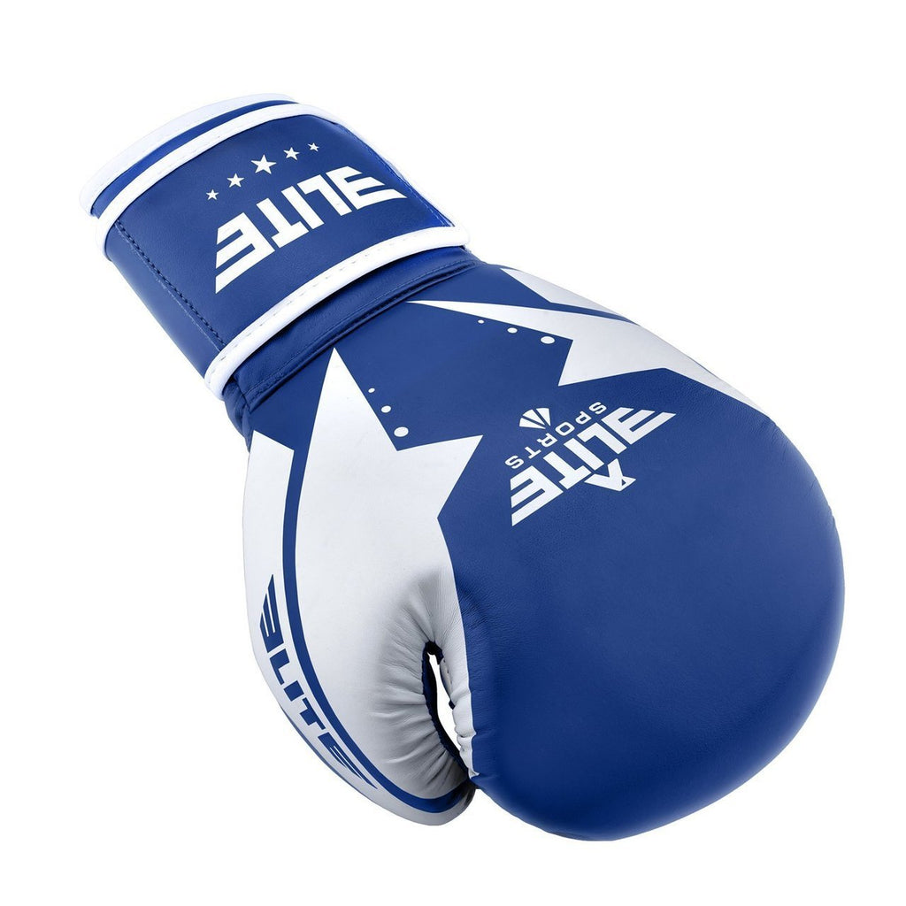 Elite Sports Star Series Blue/White Adult  Boxing Gloves