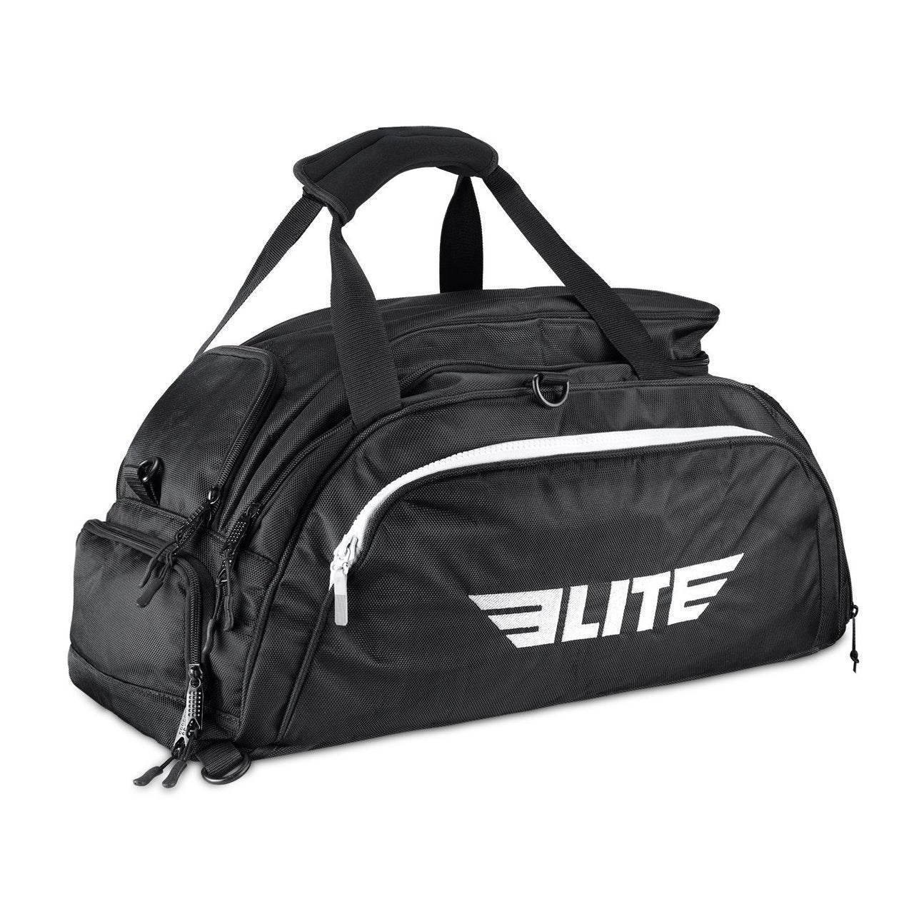 Load image into Gallery viewer, Elite Sports Warrior Series Black Medium Duffel Training Gear Gym Bag & Backpack