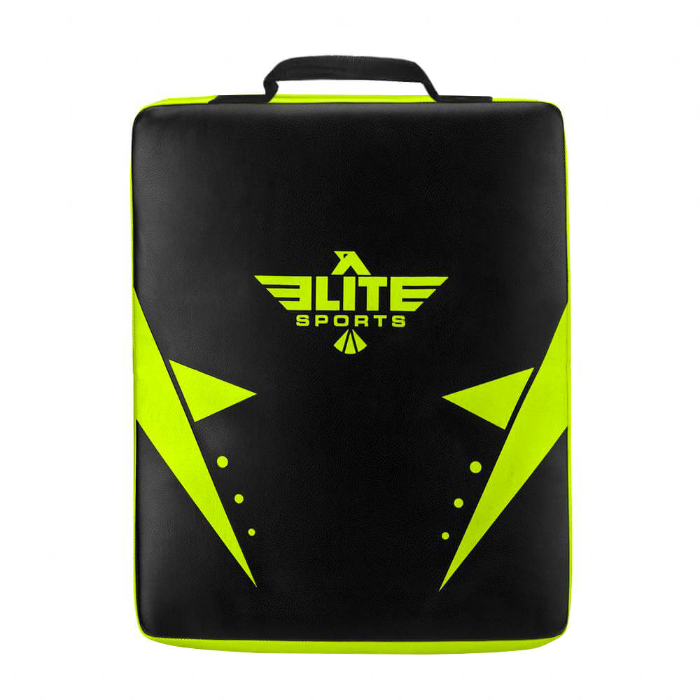 Load image into Gallery viewer, Elite Sports Black/Hi Viz Training Strike Shield Kick Pad