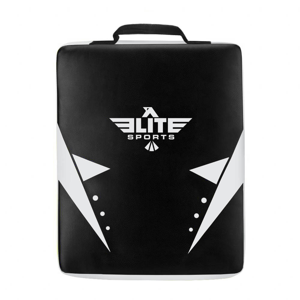 Load image into Gallery viewer, Elite Sports Black/White Training Strike Shield Kick Pad