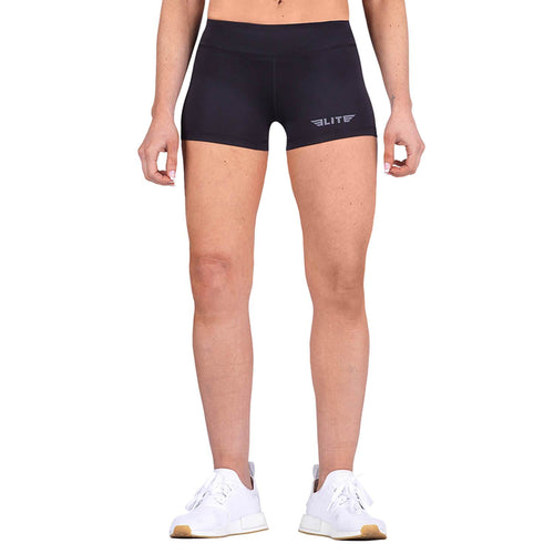 Elite Sports Women Plain Black Taekwondo Shorts