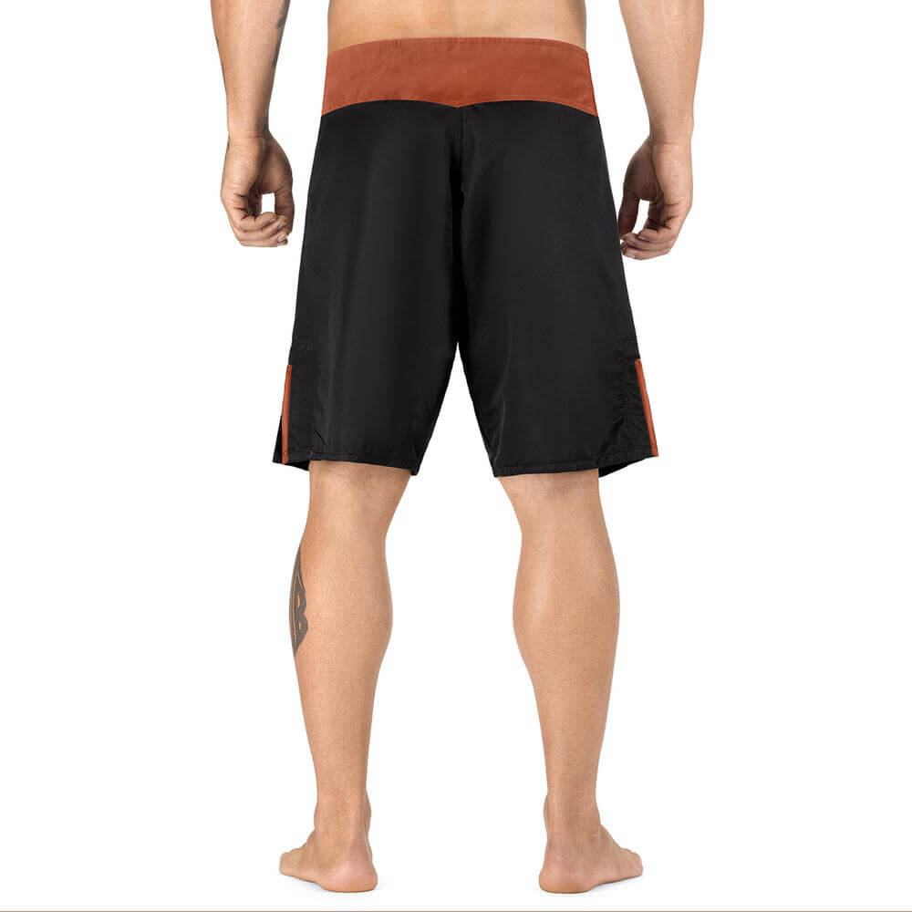 Load image into Gallery viewer, Elite Sports Black Jack Series Black/Brown MMA Shorts