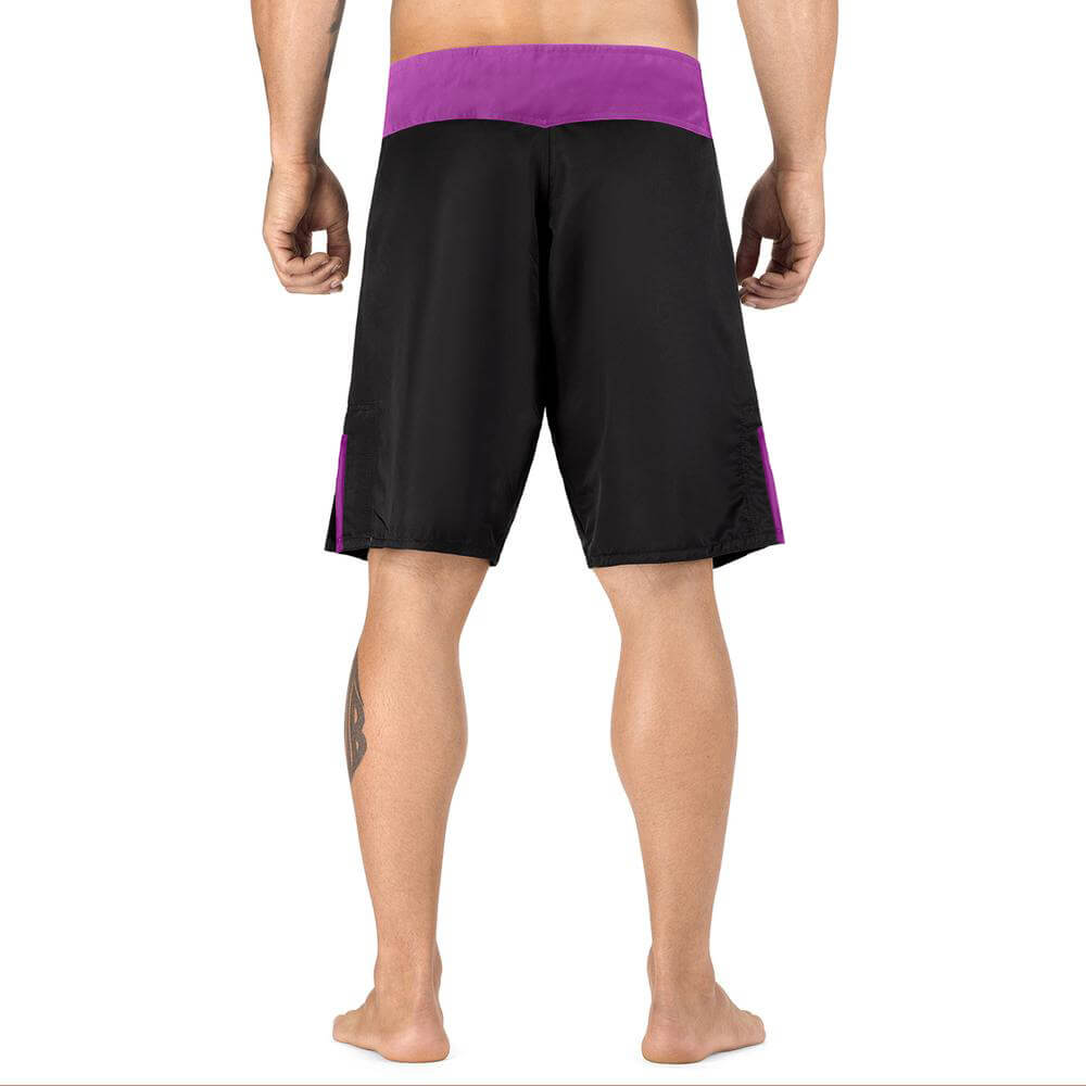 Elite Sports Black Jack Series Black/Purple MMA Shorts