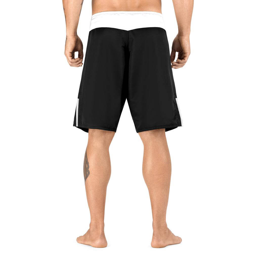 Load image into Gallery viewer, Elite Sports Black Jack Series Black/White MMA Shorts