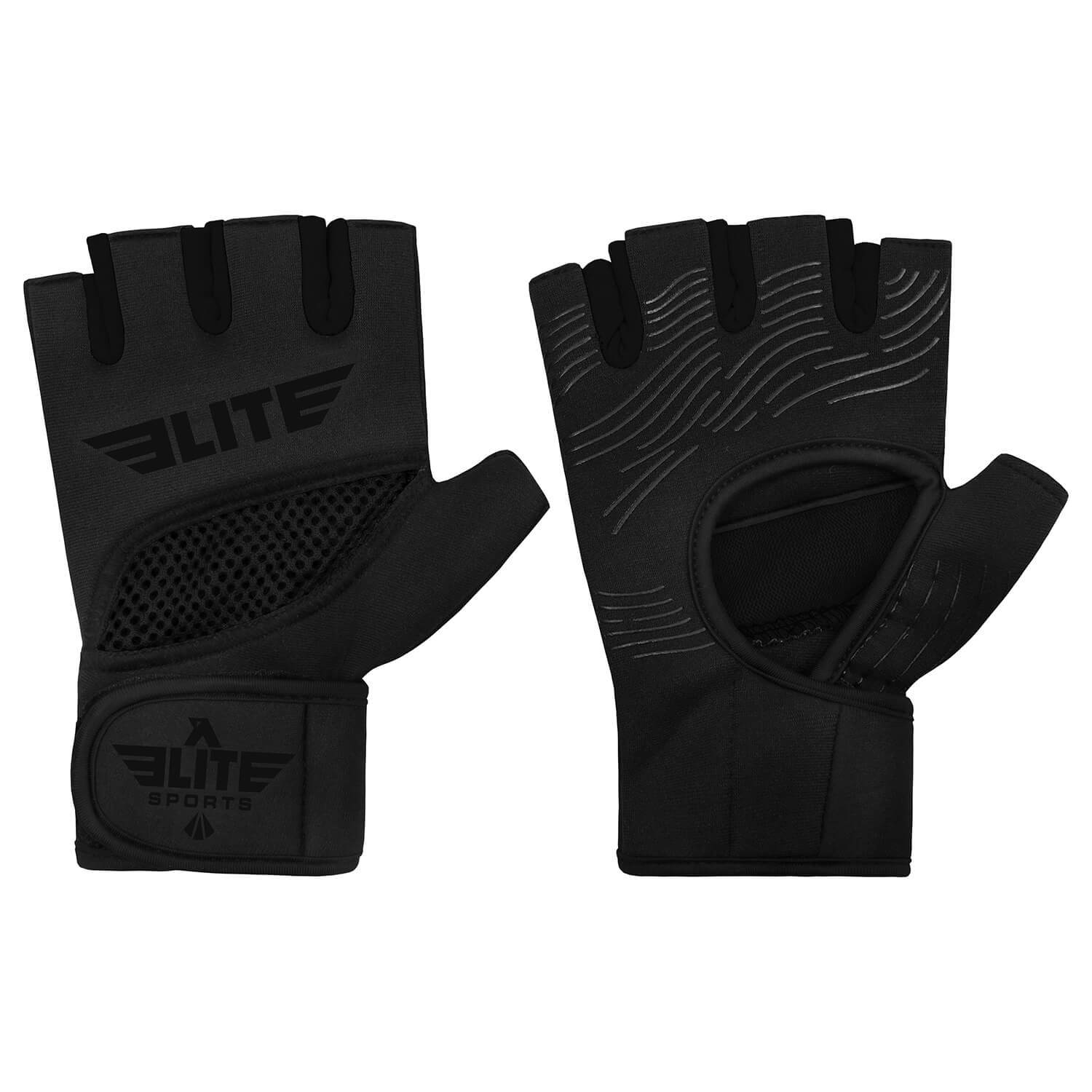 Load image into Gallery viewer, Elite Sports Black Cross Training Gel Hand Wraps