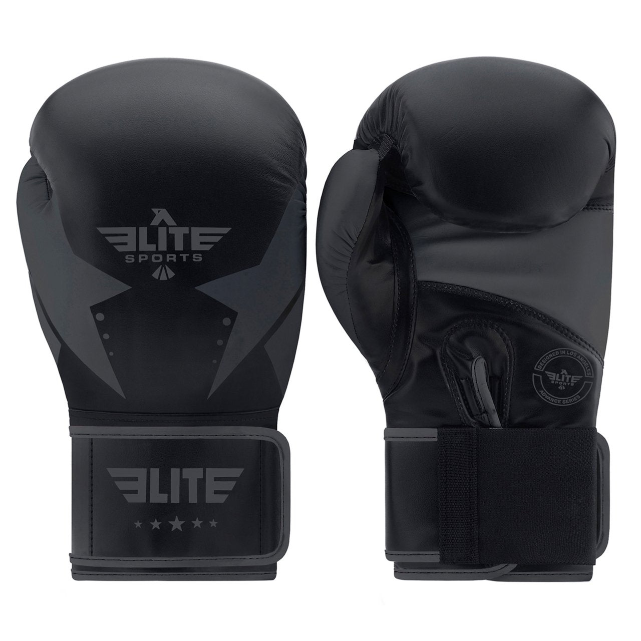 Load image into Gallery viewer, Elite Sports Star Series Black/Black Adult Boxing Gloves