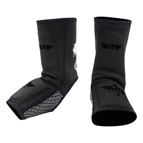 Elite Sports Black Muay Thai Ankle Guards
