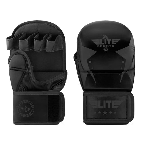 Elite Sports Star Series Black MMA Grappling Gloves