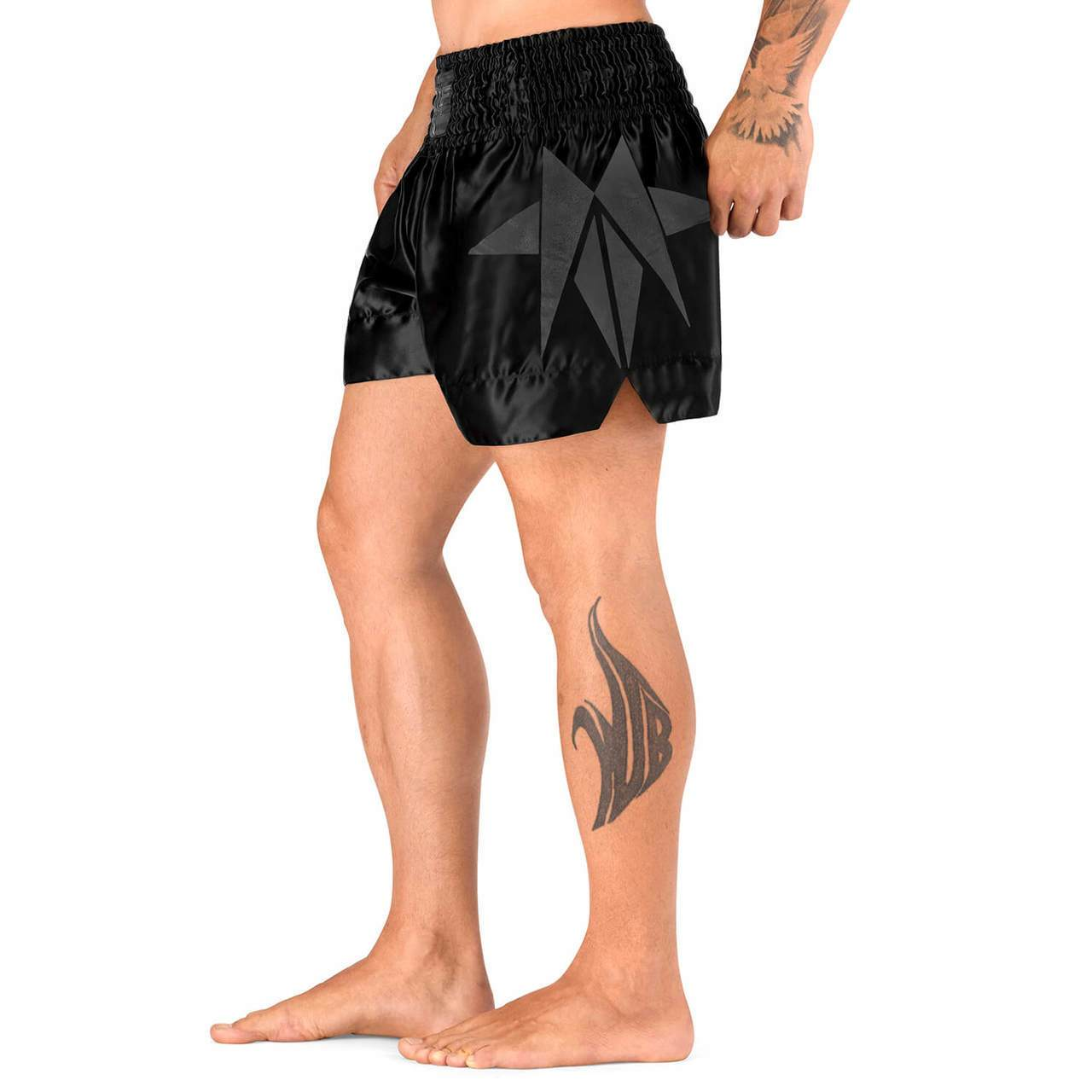 Load image into Gallery viewer, Elite Sports Star Series Sublimation Gray Muay Thai Shorts