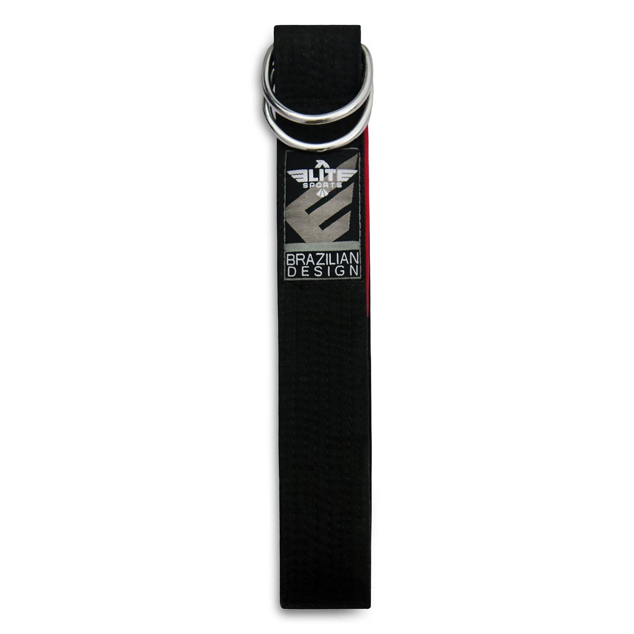 Load image into Gallery viewer, Elite Sports Adult Brazilian Jiu Jitsu BJJ Black Belt with Buckle