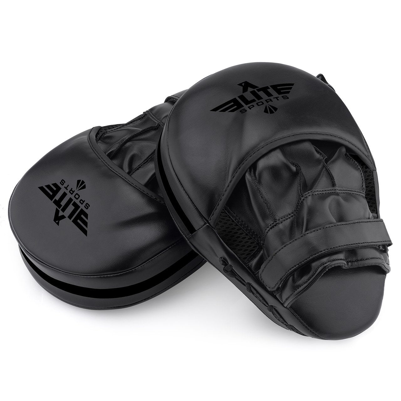 Load image into Gallery viewer, Elite Sports Essential Curved Black Training Punching Mitts