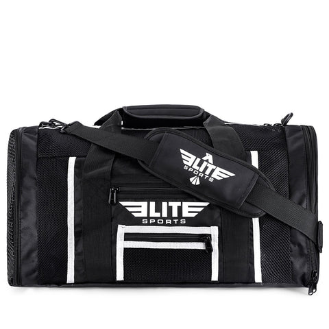 Elite Sports Mesh Black Large Muay Thai Gear Gym Bag